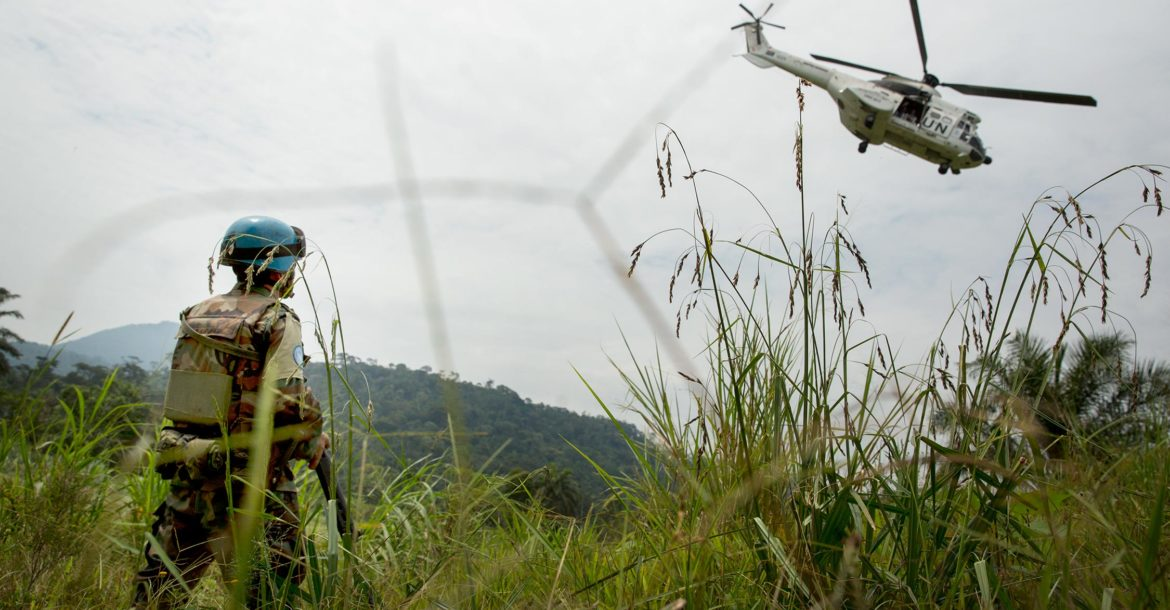 Monusco helicopter