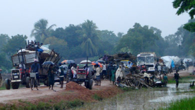 Civilians displaced as a result of the Sri Lanka Army's military offensive in the Tamil civil war