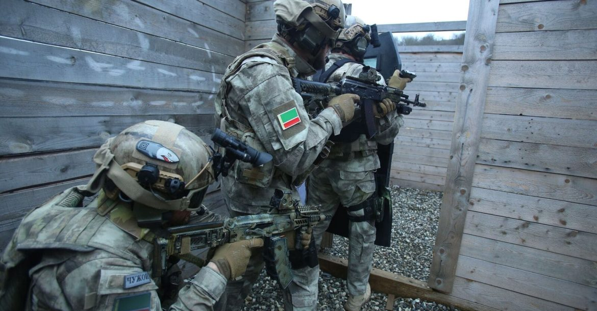 Tactical training at the Russian University of Spetsnaz (Special Operations Forces) in the Chechen Republic