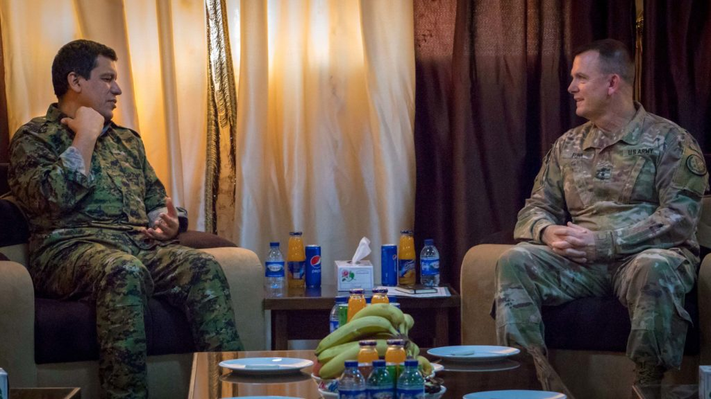 Generals Mazlum Kobane and Paul E. Funk meet