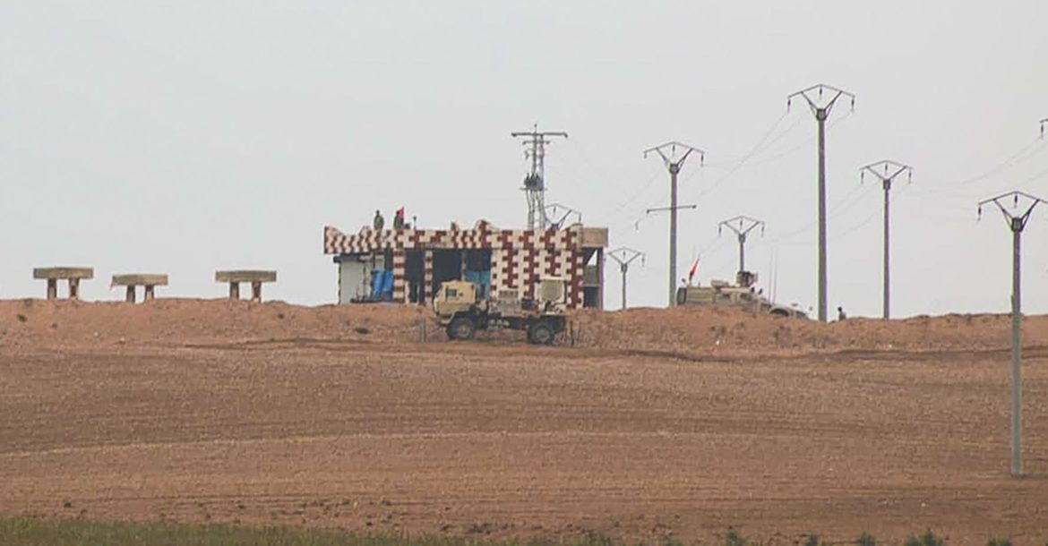 US observation post, Tel Abyad, Syria