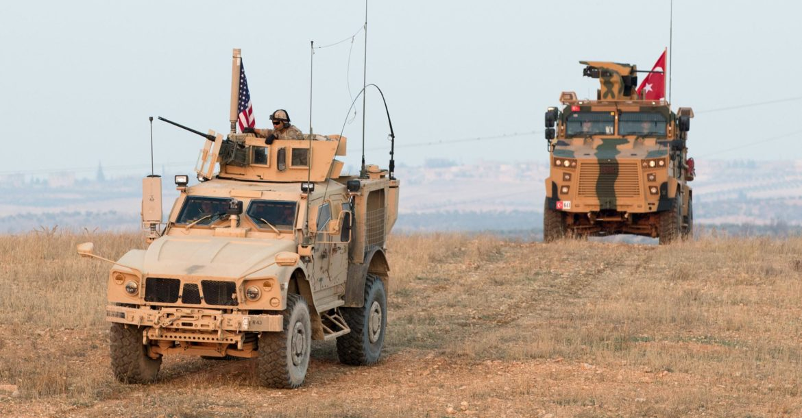 US and Turkey conduct joint patrol near Manbij, Syria