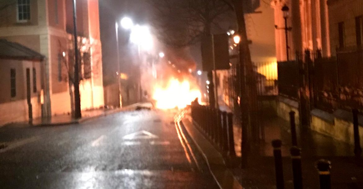 Suspected car bomb, Derry, Northern Ireland