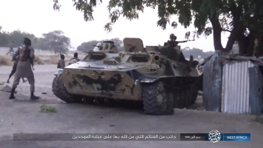 ISWA captures an MT-LB APC in Kareto