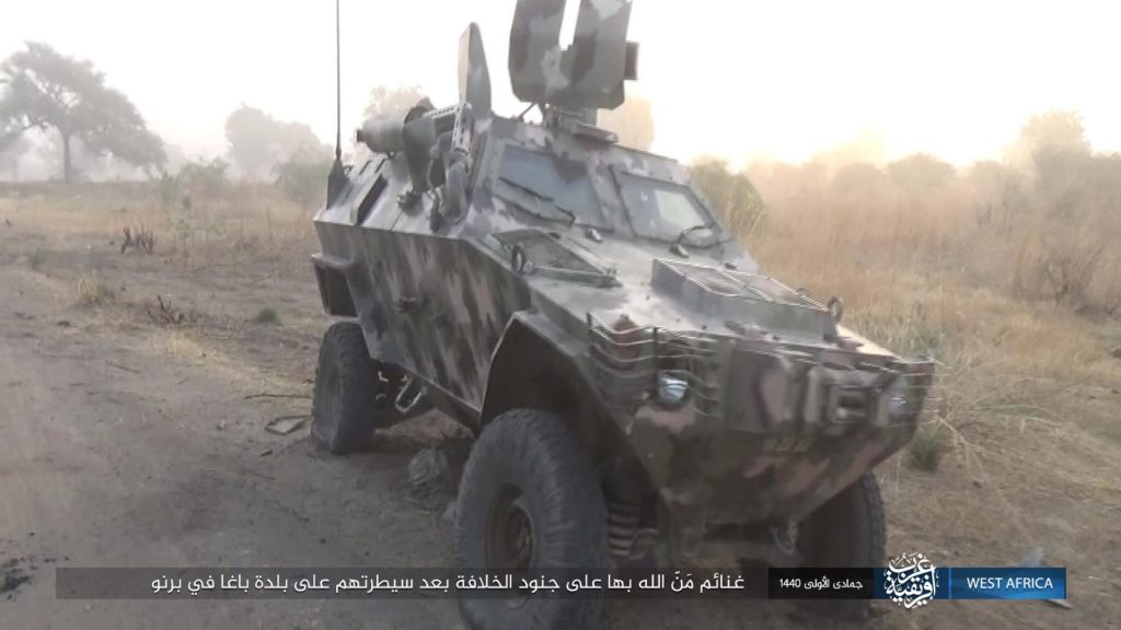 ISWA captures Otokar Cobra APC in Baga