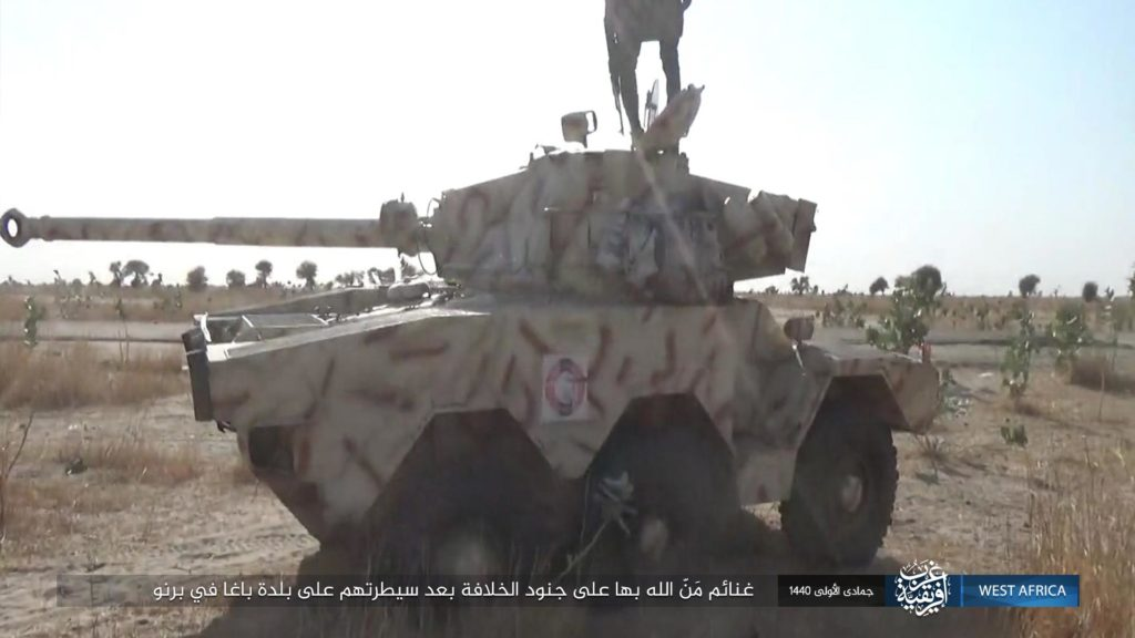 ISWA captures Panhard ERC-90 armored car in Baga
