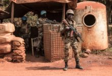Minusca peacekeepers in Bambari