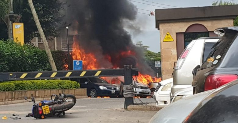 An explosion and gunfire were reported at the Ducit hotel and office complex at 14 Riverside in the Westlands area of Kenya's capital Nairobi