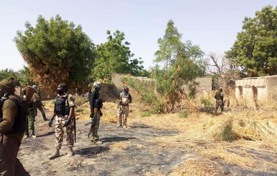 Nigerian troops at Boko Haram hideout in Makinta Meleri