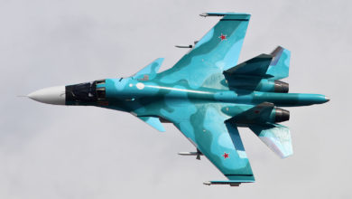 Russian air force Su-34 fighter jet