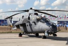 Russian Mi-35M attack helicopter