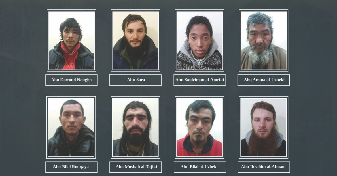 The YPG announced that it captured eight ISIS foreign fighters