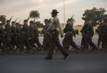US Marine Corps recruits