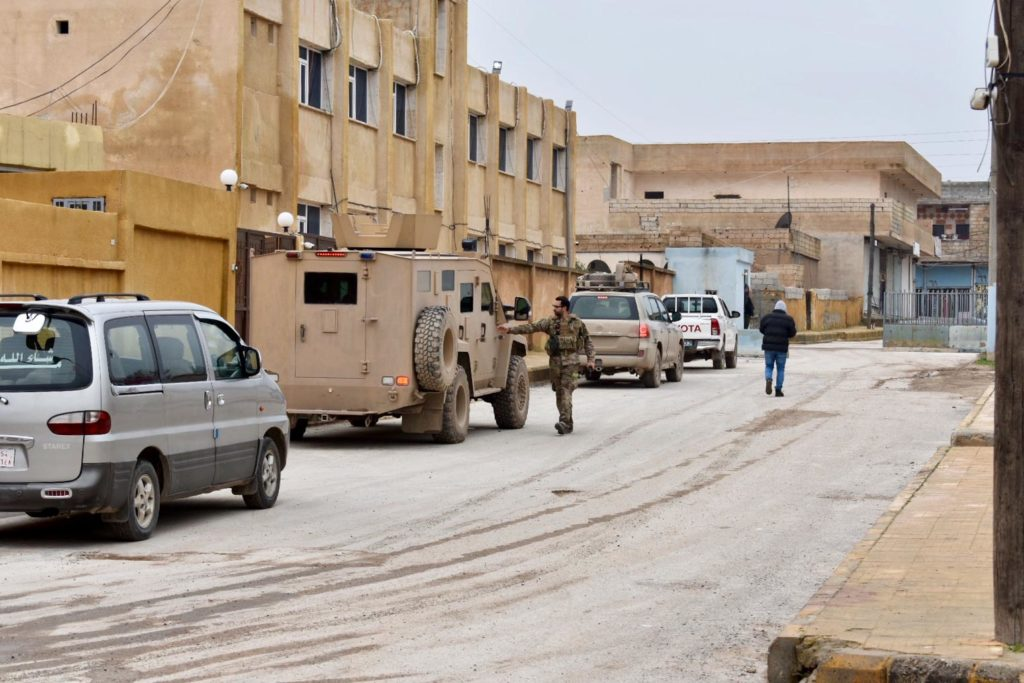 US forces in Ain Issa, northern Syria