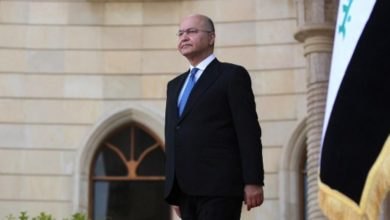 Iraqi President Barham Salih visited Paris