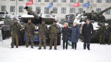 Change of command for the NATO eFP Battlegroup in Lithuania