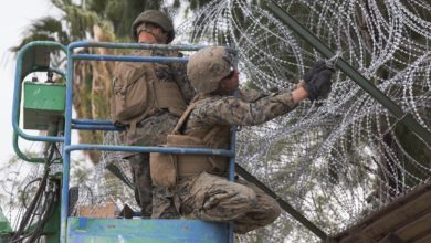 US Marines strengthen California-Mexico border