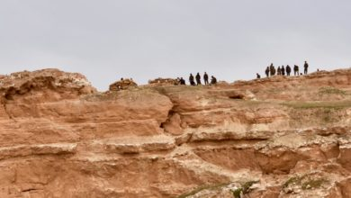 YPG fighters on Mount Baghuz, Syria