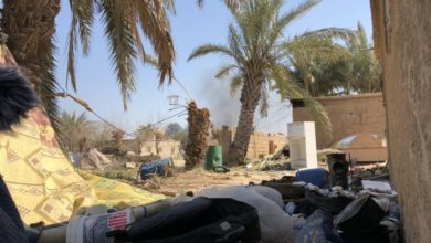 ISIS tent city near Baghuz, Syria