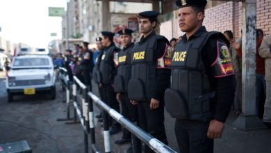 Egyptian police in Cairo