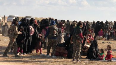 Women and children from ISIS-held areas