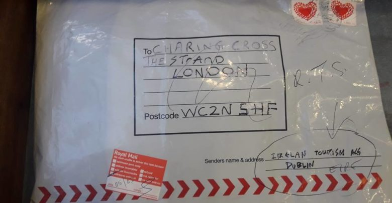 A package in Limerick that Irish police said was similar to devices sent to the UK and claimed by the New IRA