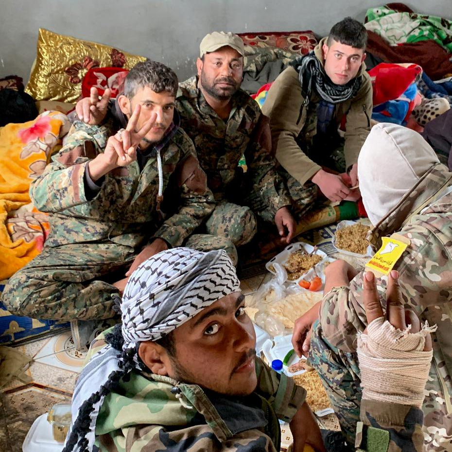 SDF fighters in eastern Syria