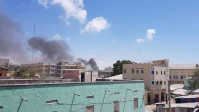 A bomb exploded near a restaurant in central Mogadishu, Somalia