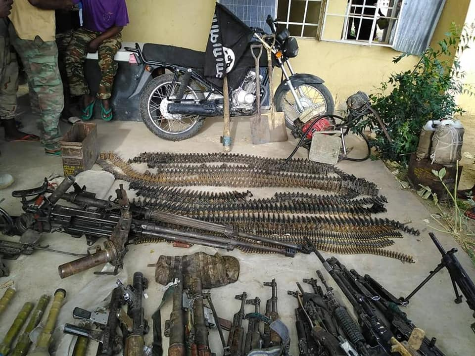Weapons captured in Borno state