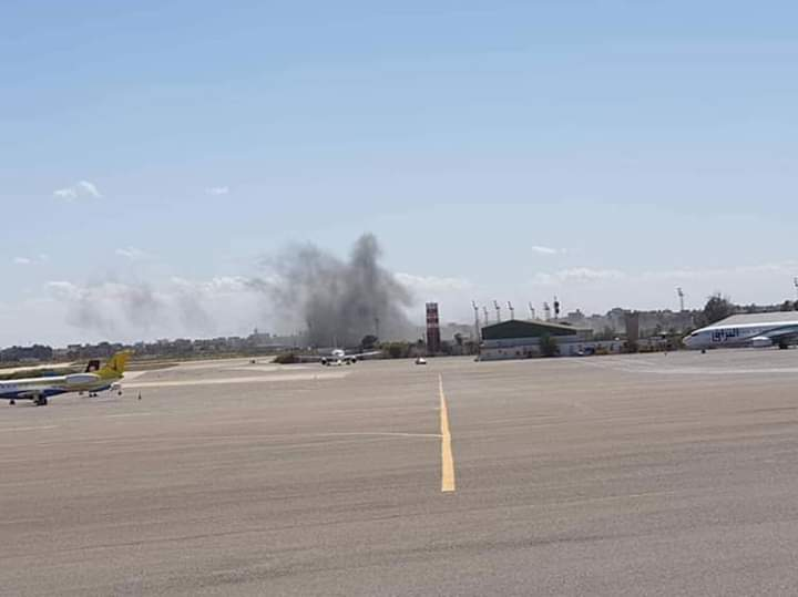 Airstrike on the Mitiga International Airport in Tripoli, Libya