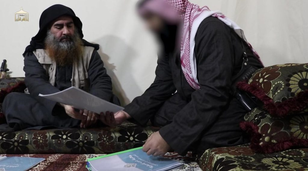 Baghdadi reads reports on ISIS provinces