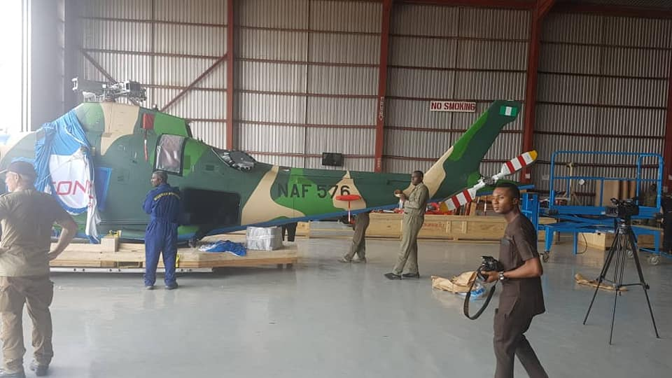 Nigerian Air Force AW109 helicopter