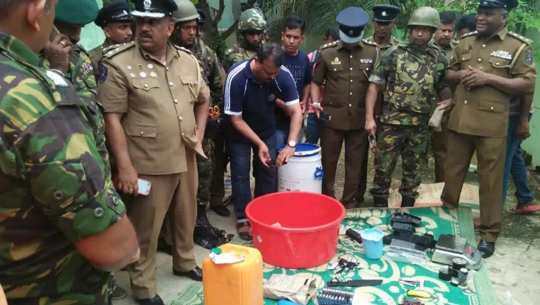 Sri Lanka police find bomb-making materials in Nindavur