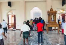 Bombing at bombing at St. Sebastian's Church in Sri Lanka on Easter