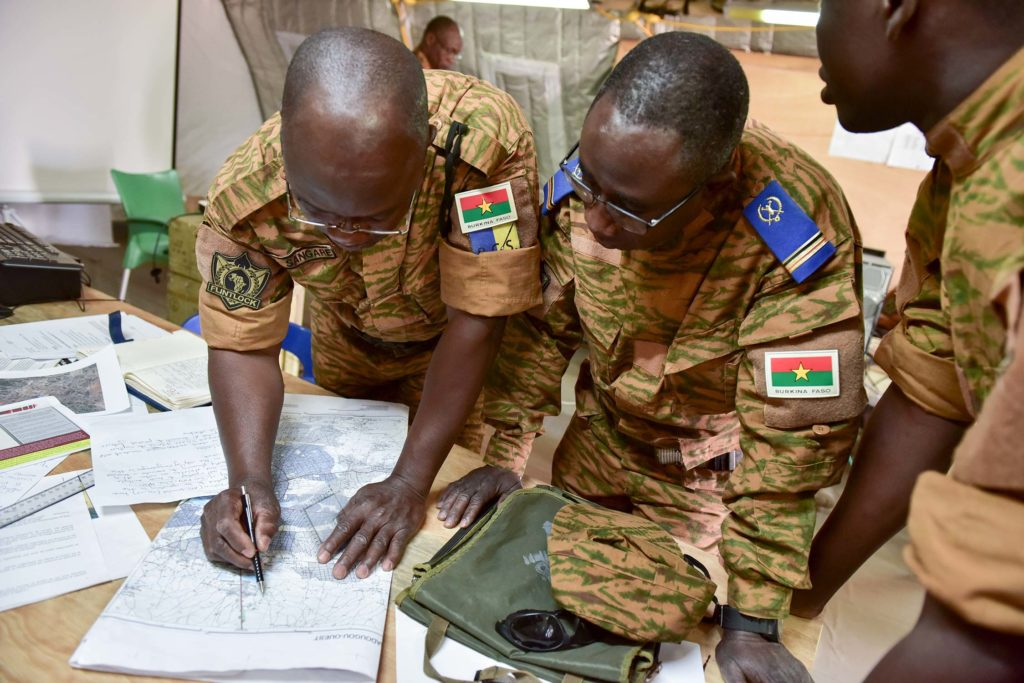 Burkina Faso army leaders conduct operational planning