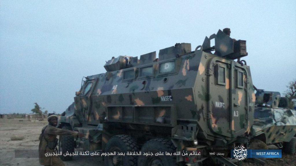 Nigerian BAE Caiman MRAP and Oktokar Cobra captured by ISWAP
