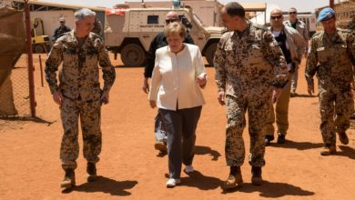 German Chancellor Angela Merkel in Gao, Mali