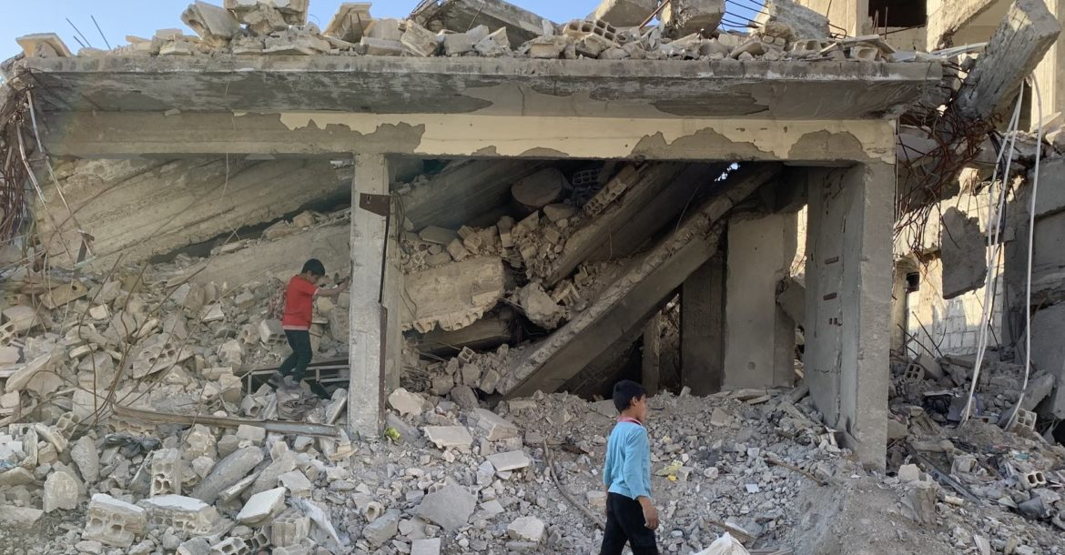 Abandoned building in Raqqa, Syria