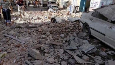 Saudi airstrikes on the Yemen capital Sana'a