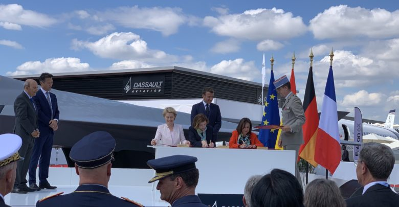 French minister for the armed forces Florence Parly, German Minister of Defence Ursula Von der Leyen and Minister of Defence of Spain