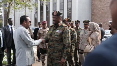 Ethiopian Prime Minister Abiy Ahmed Ali and General Abdul Fattah Burhan, head of the Sudanese Transitional Military Council
