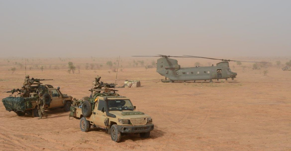 RAF Chinook during Operation Aconit
