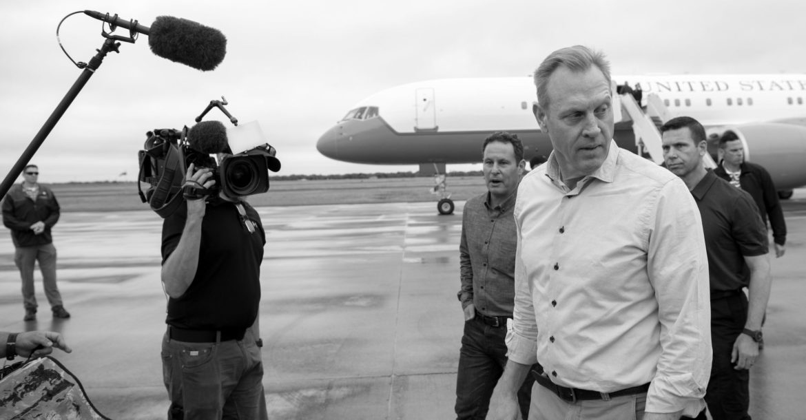 US Acting Secretary of Defense Patrick M. Shanahan at the US southern border