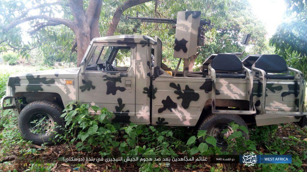 Nigerian Army technical captured by ISWAP