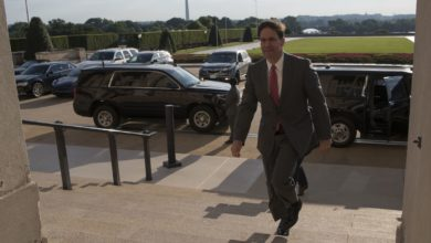 Acting US Defense Secretary Mark Esper arrives at the Pentagon