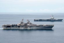 USS Boxer and FS Charles de Gaulle