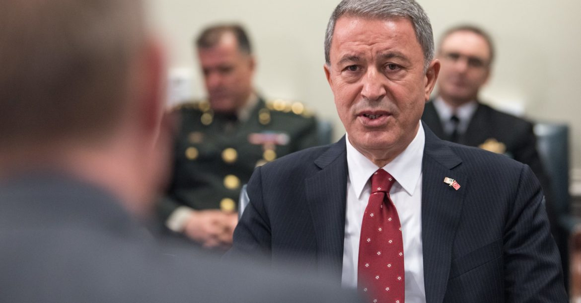 Turkish defense minister Hulusi Akar