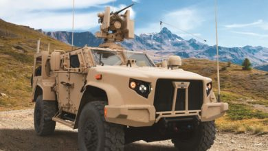 Oshkosh L-ATV in M1278 Heavy Guns Carrier JLTV configuration