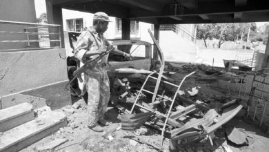 Aftermath of RENAMO attack