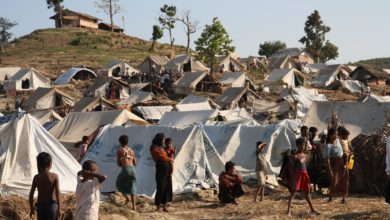 Displaced Rohingya in Myanmar